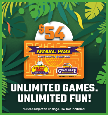 Image of the Annual pass for $54.00 a year that lets you play unlimited games.