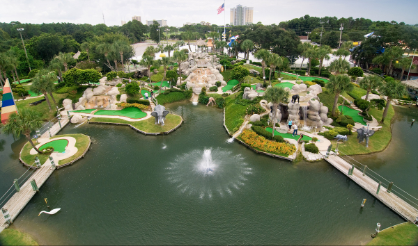 An image of our amazing property grounds at Coconut Creek Family Fun Park in Panama City Beach, Florida.